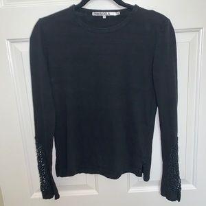 Pam & Gela Embroidered Long Sleeve Tee Black